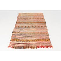 Pink Moroccan flat weave rug