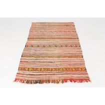 Pink Moroccan flat weave rug