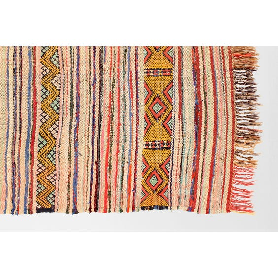 Pink Moroccan flat weave rug image