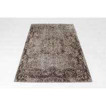 Faded grey tapestry rug