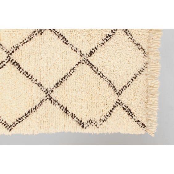 Cream wool berber rug image