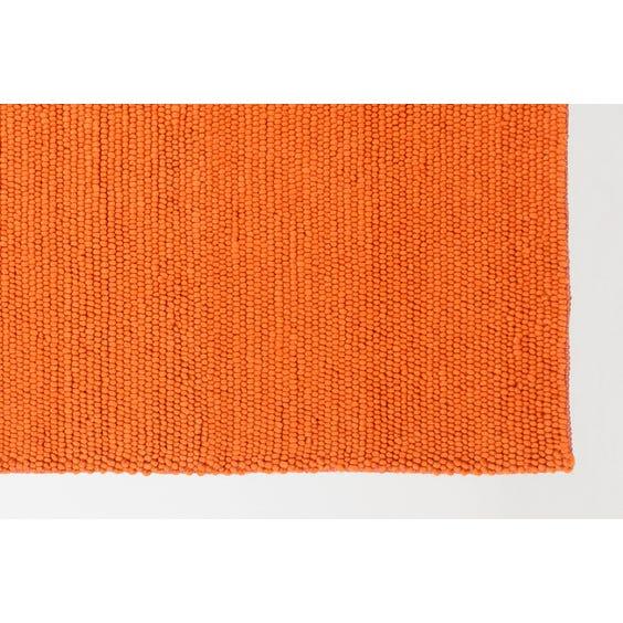 Orange chunky wool rug image