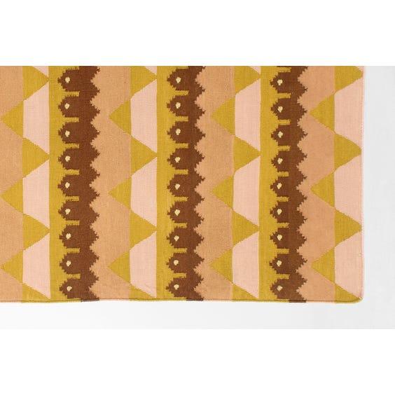 Modern tribal flat weave rug image
