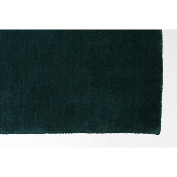 Teal green short pile rectangular rug image