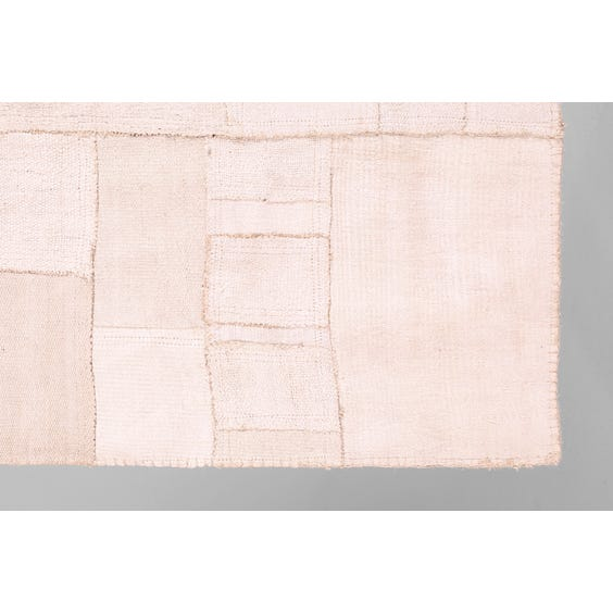 Large off white patchwork rug image