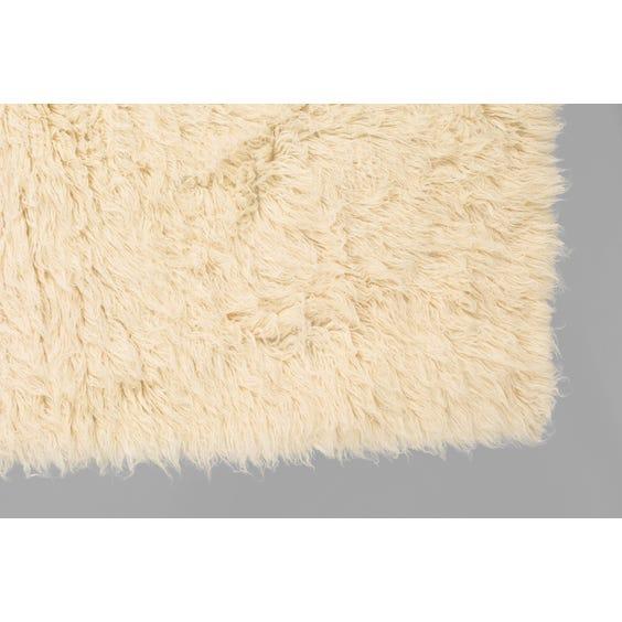 Large rectangular flokati rug image