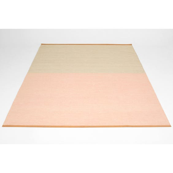 Modern pink and putty rug image