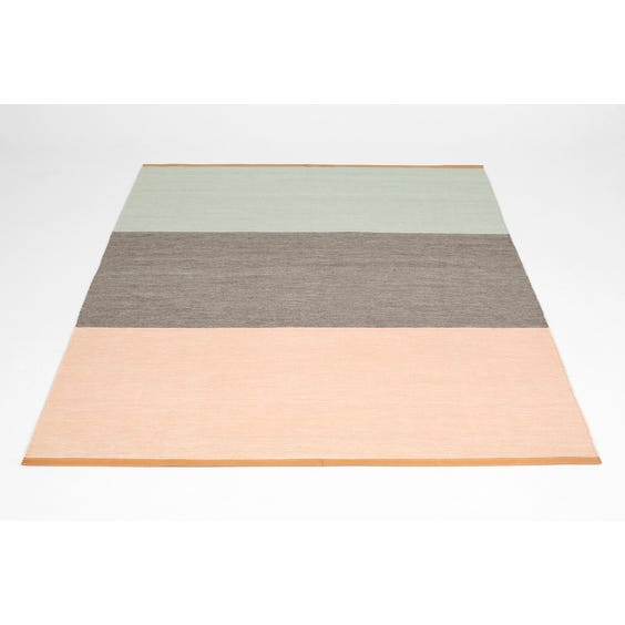 Pink grey and blue rug image