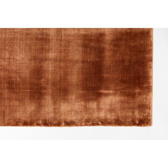 Copper sheen rectangular rug image