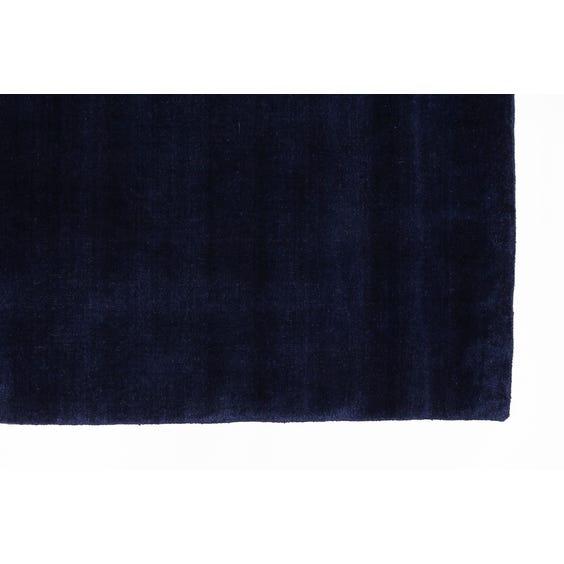 Midnight blue rectangular rug image