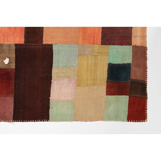 Turkish patchwork rectangular rug image