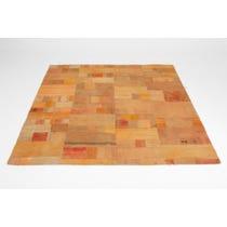 Pumpkin orange patchwork rug