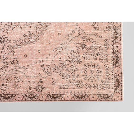 Faded Turkish floral rug image