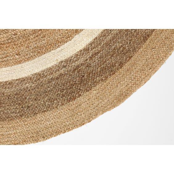Natural jute circular rug image