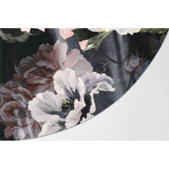 Muted floral circular rug image