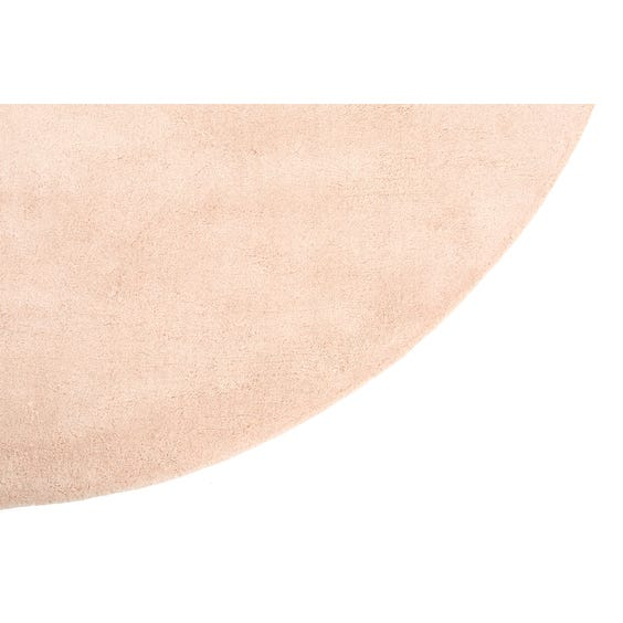 Muted blush pink circular rug image