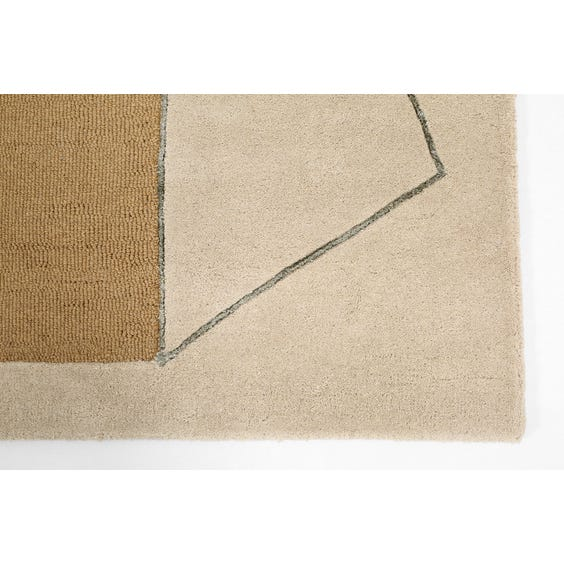 Modern abstract geometric rug image