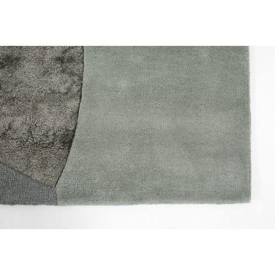 Modern blue abstract circles rug image