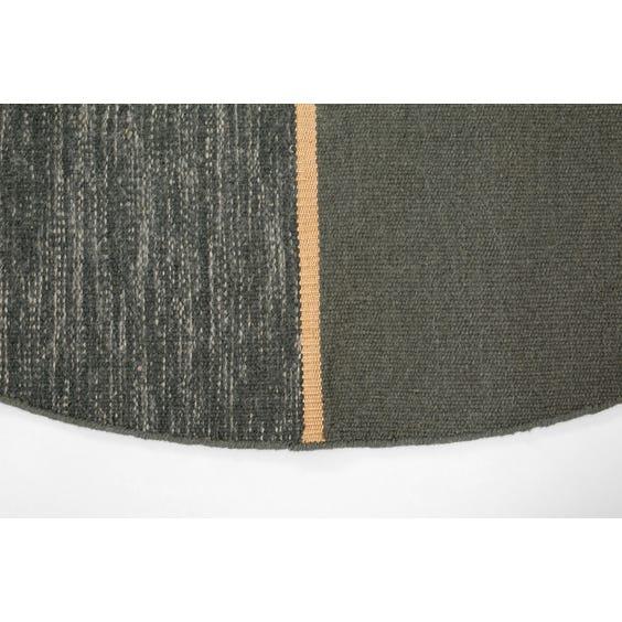 Modern split circular grey rug image