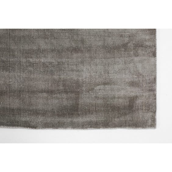 Ash grey sheen rug image