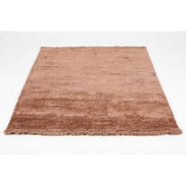 Rusty pink shimmer rug