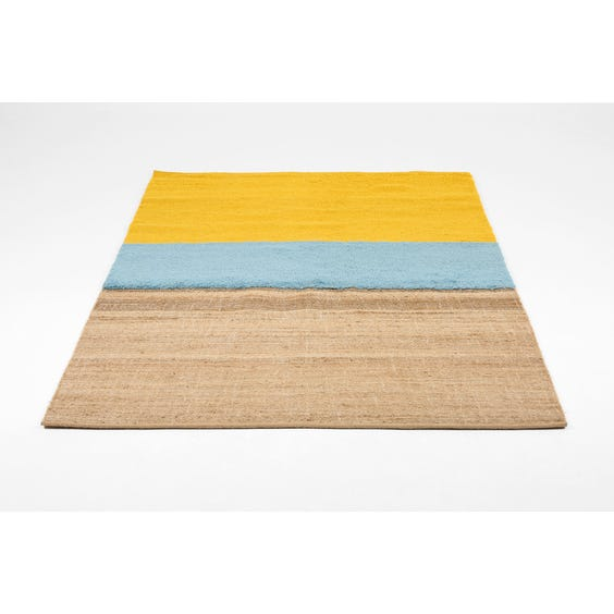 Modern natural woven jute rug image