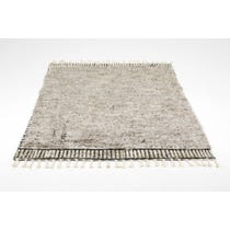 Moroccan style mid grey rug