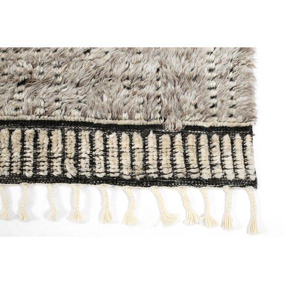 Moroccan style mid grey rug image
