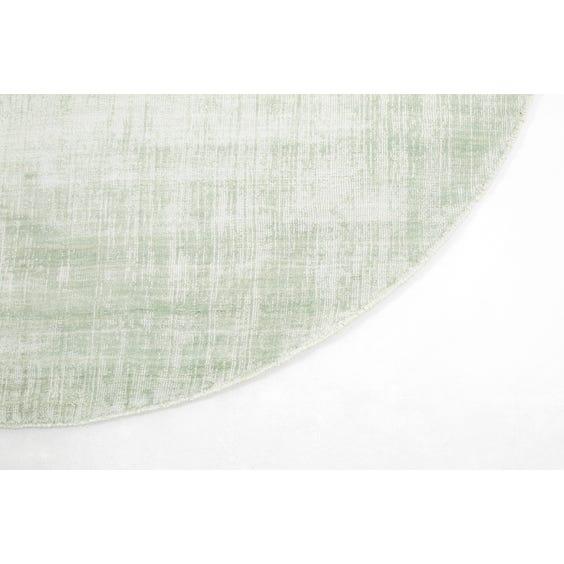 Aqua sheen lozenge shaped rug image