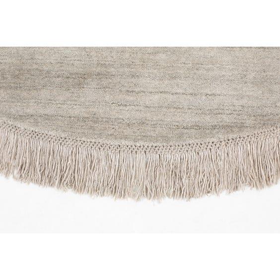 Modern circular silver grey rug  image