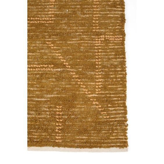Moroccan style hand woven khaki rug image