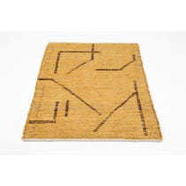 Moroccan style hand woven honey gold rug