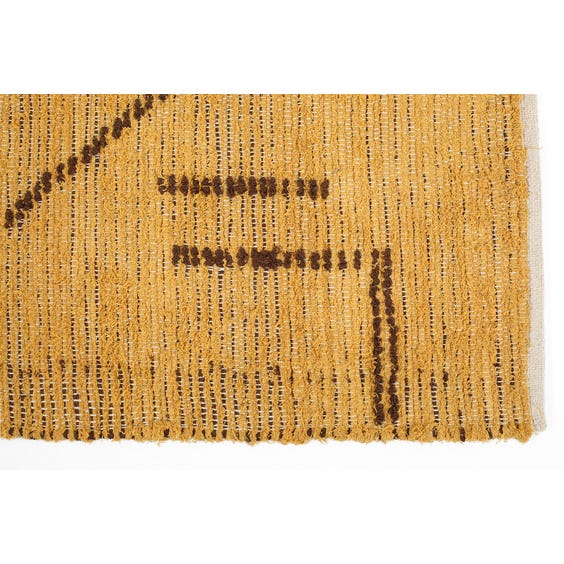 Moroccan style hand woven honey gold rug image