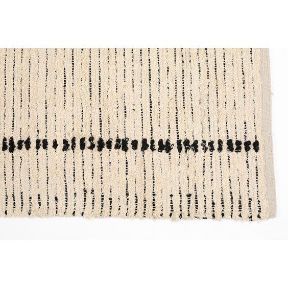 Moroccan style hand woven cream rug image