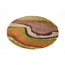 1970s multicoloured abstract rug