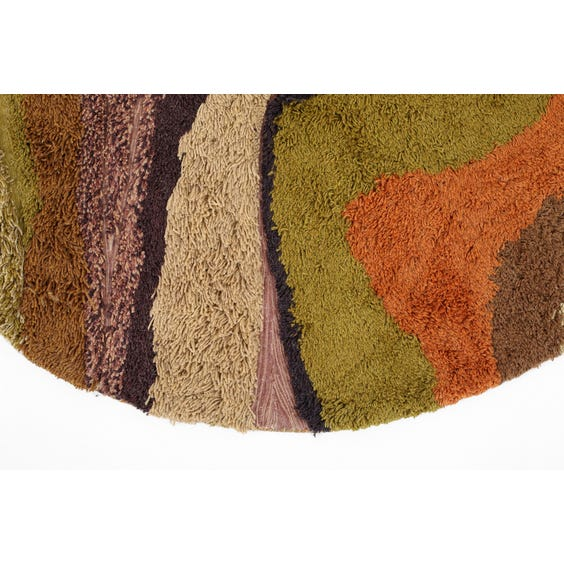 1970s multicoloured abstract rug image