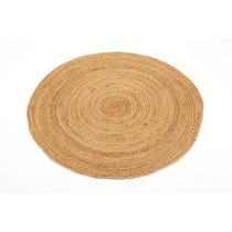 Small natural jute circular rug