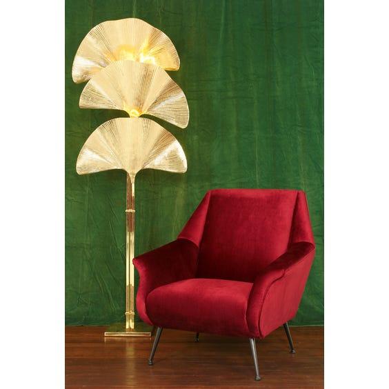 Ruby red velvet armchair image