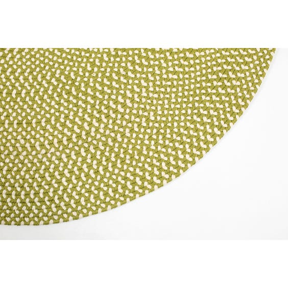 Apple green herringbone rug image
