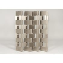 Pale bronze multipart metal screen