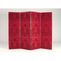 Red flocked velvet silk screen