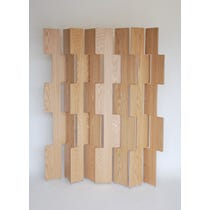 Modern oak multipart screen