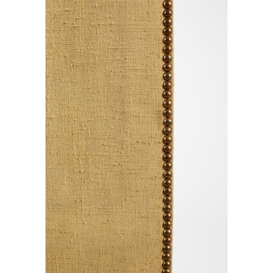 Midcentury pale gold woven screen image