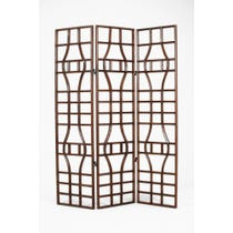 Primitive dark wood screen