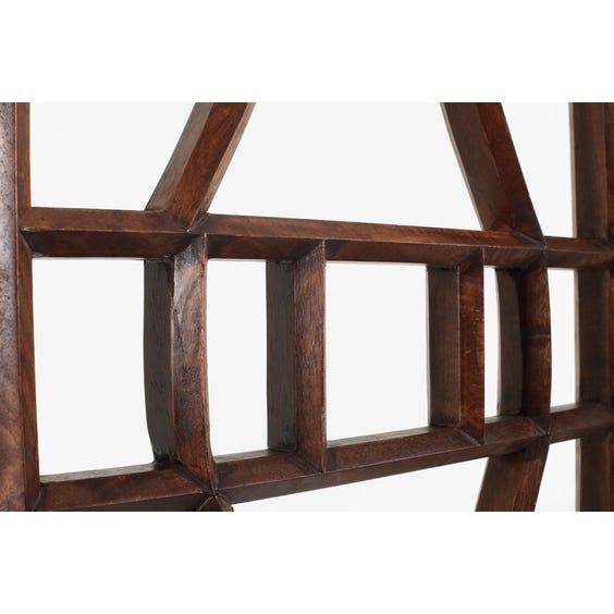 Primitive dark wood screen  image