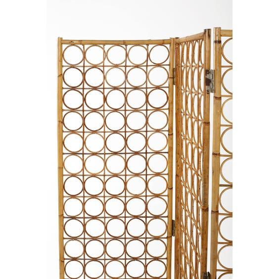 Midcentury decorative rattan screen  image