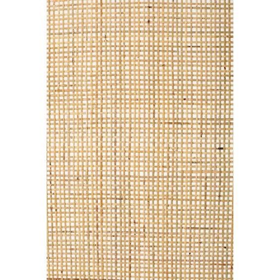 Woven rattan three panel screen  image