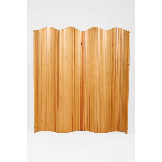 French slatted pine tambour screen  image