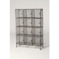 Vintage wire mesh locker