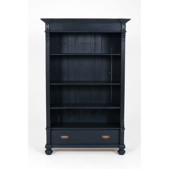 Petrol blue painted bookcase image